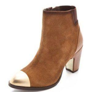 🔥MOVING SALE🔥Miista Leather Boots Gold Toe RARE